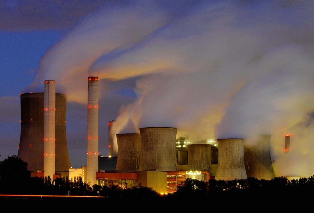 Kohlekraftwerk in Bergheim-Niederaussem.