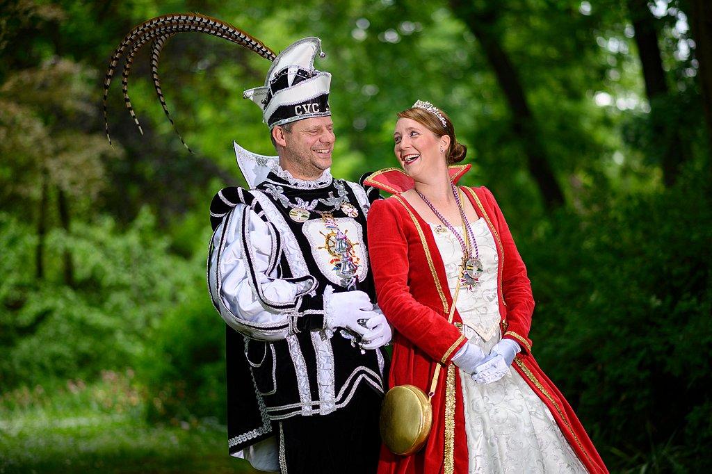 Hessen Helau sagt das Prinzenpaar aus Bad Camberg.
